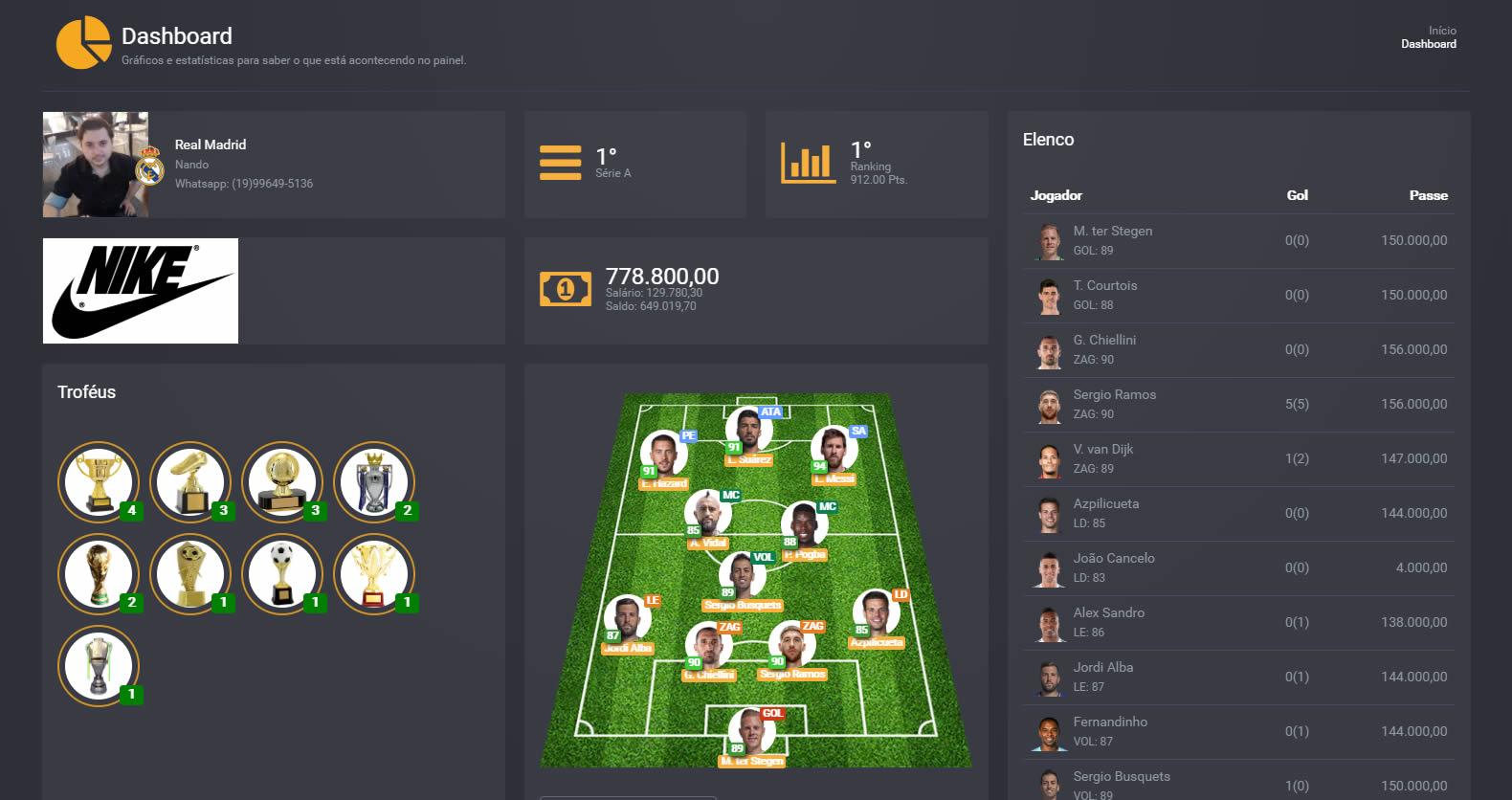 Arena Virtual - Master Liga e Campeonatos de Fifa e PES