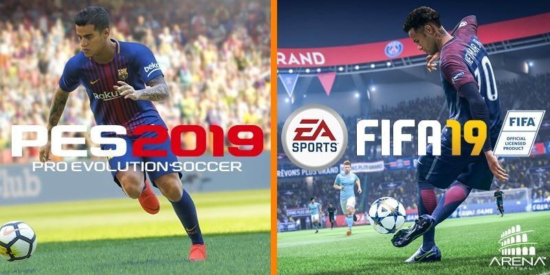 QUAL ESCOLHER: FIFA19 ou PES19?  Nós te ajudamos!