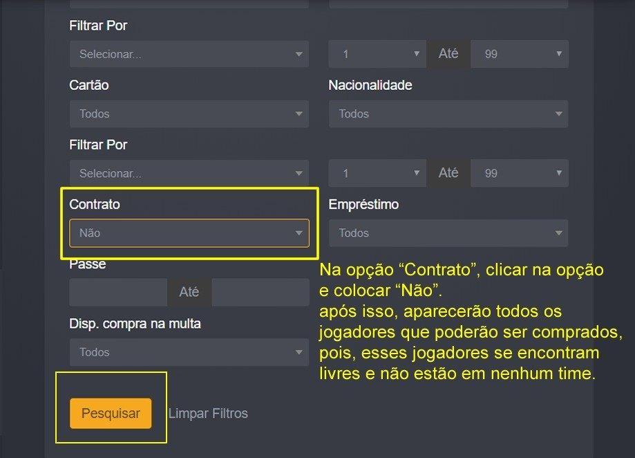 # PARA NOVATOS: Como procurar um jogador sem contrato no Painel Virtual