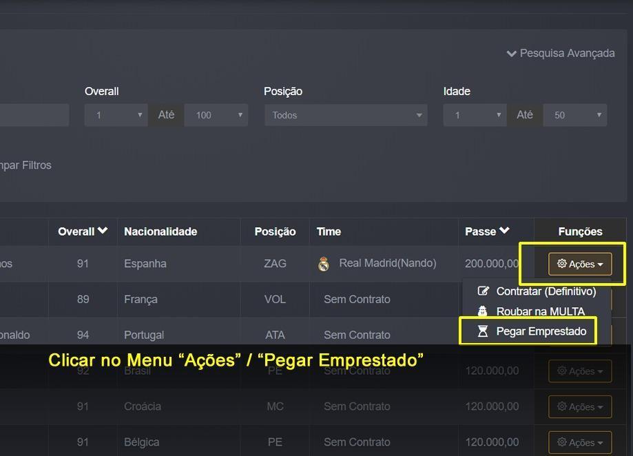 # PARA NOVATOS: Como Trocar e Emprestar jogadores no Painel Arena Virtual