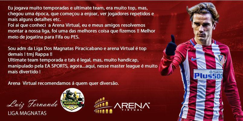 Porque ???????????????????????????????? o Sistema Arena virtual para criar minha liga⁉