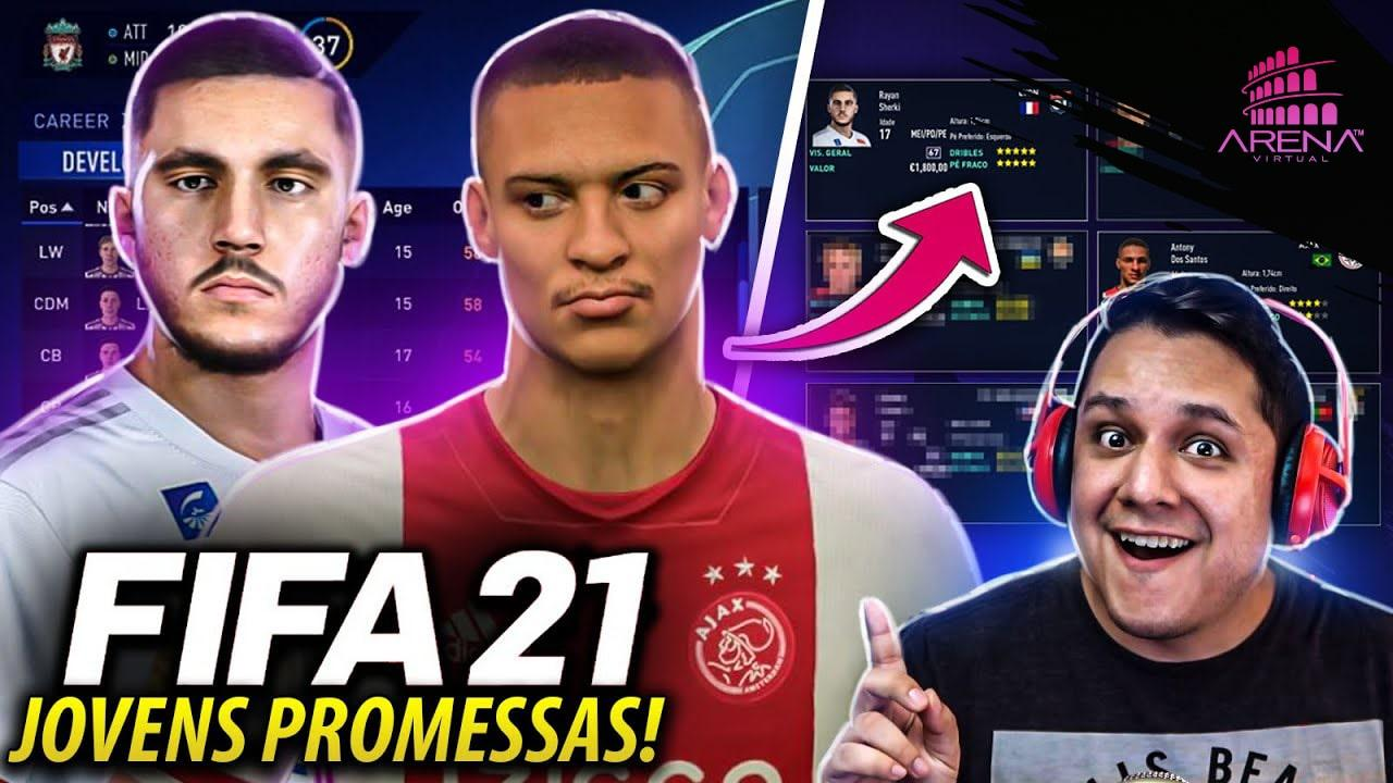 7 JOVENS PROMESSAS para CONTRATAR NO FIFA 21!
